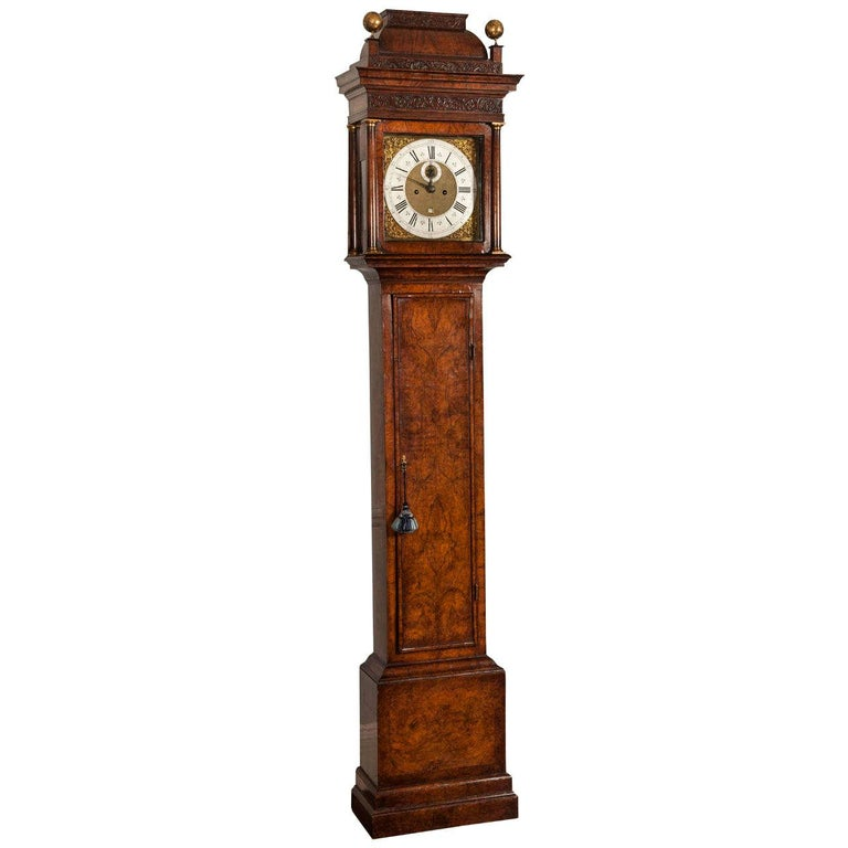 Walnut Longcase Clock by Daniel Delander, London