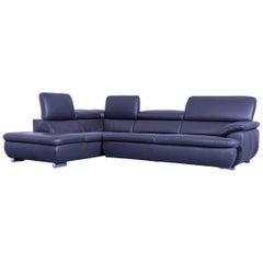 Mondo Excelenta Designer Corner Grey Leather Function Couch