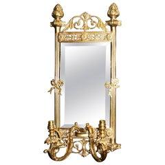 Quality French Style Ormolu Girandole Mirror