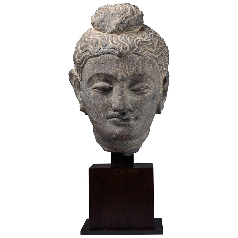 Ancient Stone Gandharan Sculpture of Buddha, 250 AD