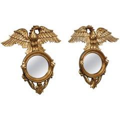 Pair of Federal Style Bullseye Mirrors