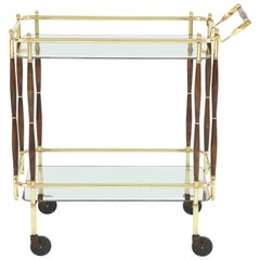 Brass Bar Cart, circa 1950