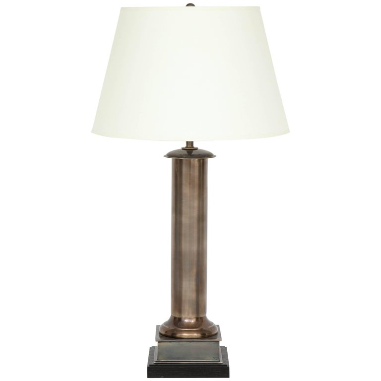 Column Table Lamp For Sale