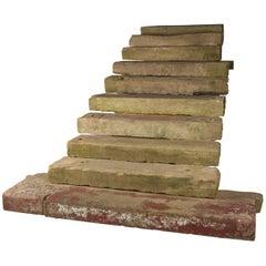 Set of Ten Reclaimed Sandstone Steps Treads from a Georgian Property in Norfolk