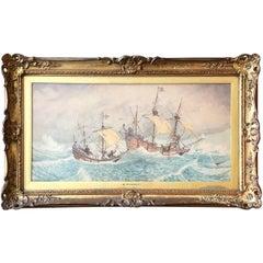 Bernard Finnegan Gribble, British Marine Watercolor Illustration
