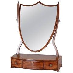 George III Period Mahogany Toilet-Mirror of a Classic Hepplewhite Style