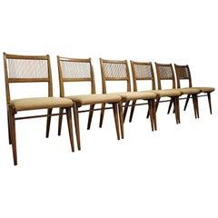 Set of Six Mid-Century Modern John Van Koert for Drexel Profile Dining Chairs