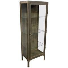 Old Metal Display Cabinet