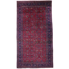 Arts & Crafts Antique Turkish Sparta Palace Size Rug with Luxe Style