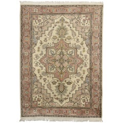 Vintage Turkish Sivas Rug with Persian Heriz-Serapi Style