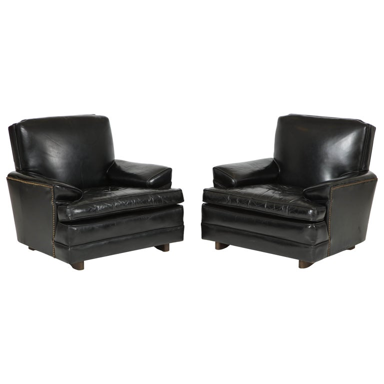 Pair of Club Chairs Attributed to Sam Marx For Sale