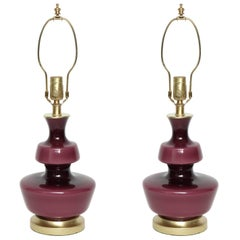 Holmegaard Raspberry Glass Lamps