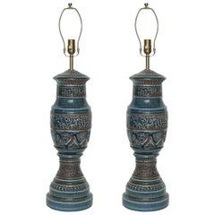 Zaccagnini Blue Ceramic Lamps