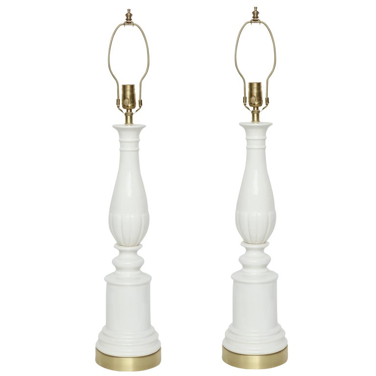 Blanc De Chine Porcelain Lamps