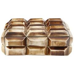 Faceted Bone Keepsake Box