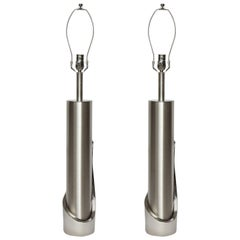 Laurel Brushed Steel Cylinder Lamps
