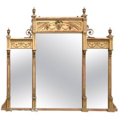 19th Century Adams Style Three Panel Mirror
