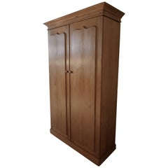 Early Victorian Stripped Pine Wardrobe