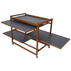 1960s Three-Tier Danish Modern Teak Serving Bar Cart