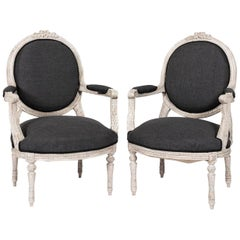 Pair of Early 20th Century Gustavian Armchairs