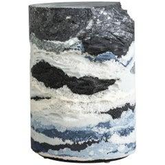 Strata Drum, Sand, Silica, Crystal Quartz Crushed Glass, by Fernando Mastrangelo
