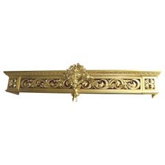 Ornate Carved Wood Gilded Pediment Cornice Pelmet
