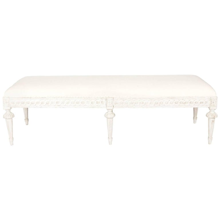 Gustavian Six-Leg Bench