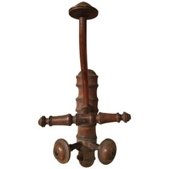 French Walnut Coat and Hat Wall Hook, 19th Century