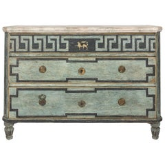 19th Century Painted Gustavian Dresser