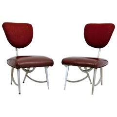 Contemporary Disney Quest Armillary Jordan Mozer Pair of Aluminum Side Chairs