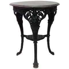 Outdoor English Victorian Painted Iron Three-Legged Pub Tables