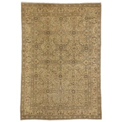 Vintage Turkish Sivas Rug with Traditional Style and Neutral Colors