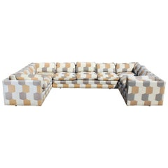 Mid-Century Modern John Mascheroni for Swaim Three-Piece Sectional Sofa, 1960s