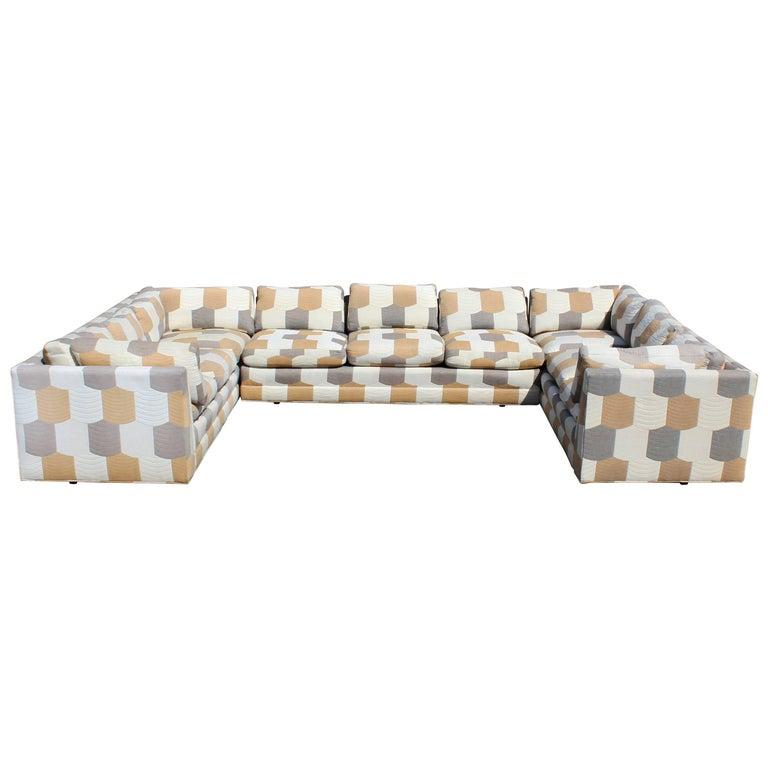 Mid-Century Modern John Mascheroni for Swaim Three-Piece Sectional Sofa, 1960s