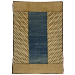 Vintage Turkish Oushak Rug with Mid-Century Modern Style and Mad Men Vibes