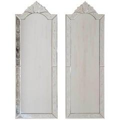 Pair of Modern Italian Venetian Mirrors, circa 2015