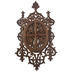 Carved English Doored Filigree Frame