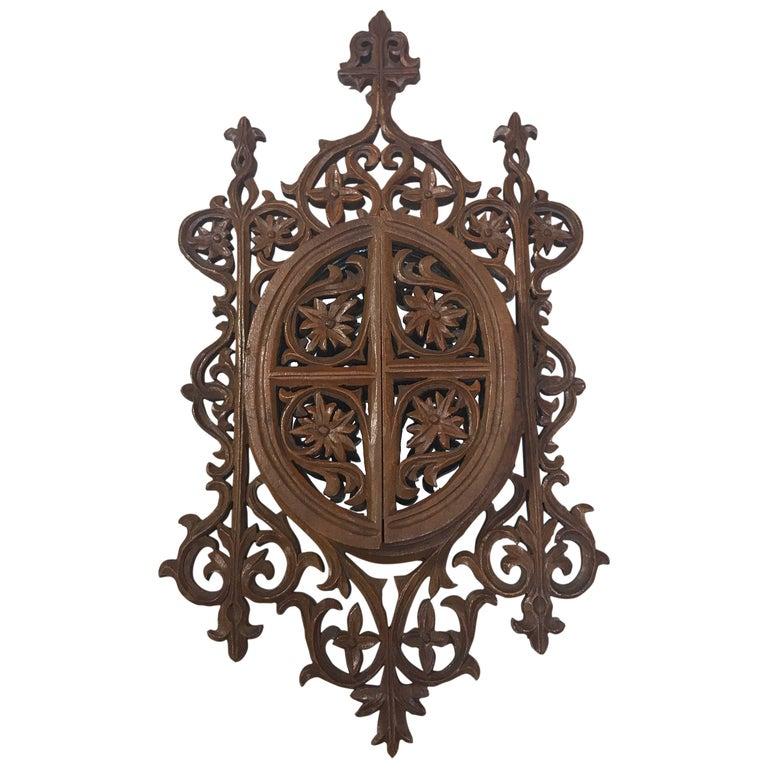 Carved English Doored Filigree Frame