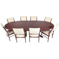 Scandinavian Rosewood Dining Room Set by Skovby