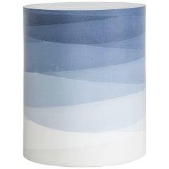 Fade Drum, Indigo Cement by Fernando Mastrangelo