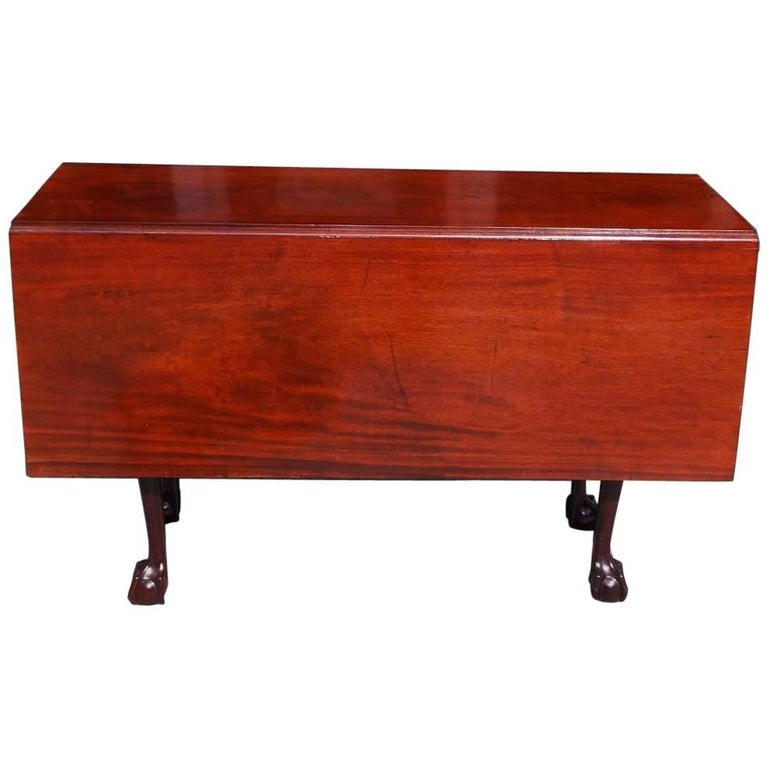 American Chippendale Cuban Mahogany Claw and Ball Drop-Leaf Table, Circa 1770