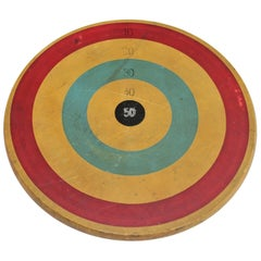 Early 20th Century Original Painted Target Game Board