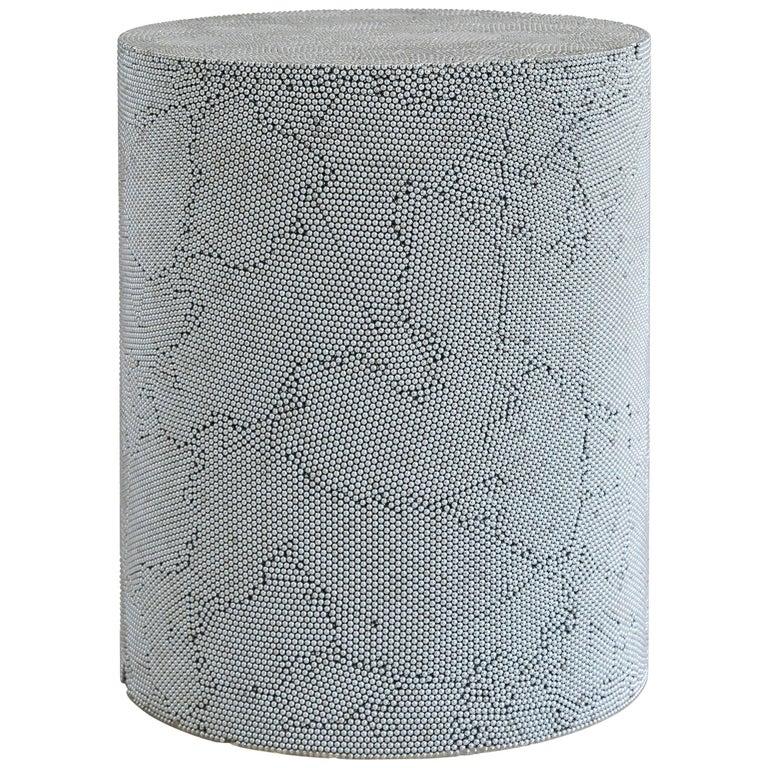 Silver BB Drum by Fernando Mastrangelo For Sale