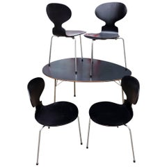Midcentury Arne Jacobsen Egg Table and Ant Chair Set
