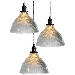 Bell Dome Holophane Pendants