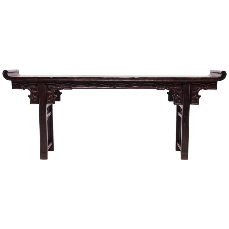 Early 19th Century Chinese Altar Table with Everted Ends