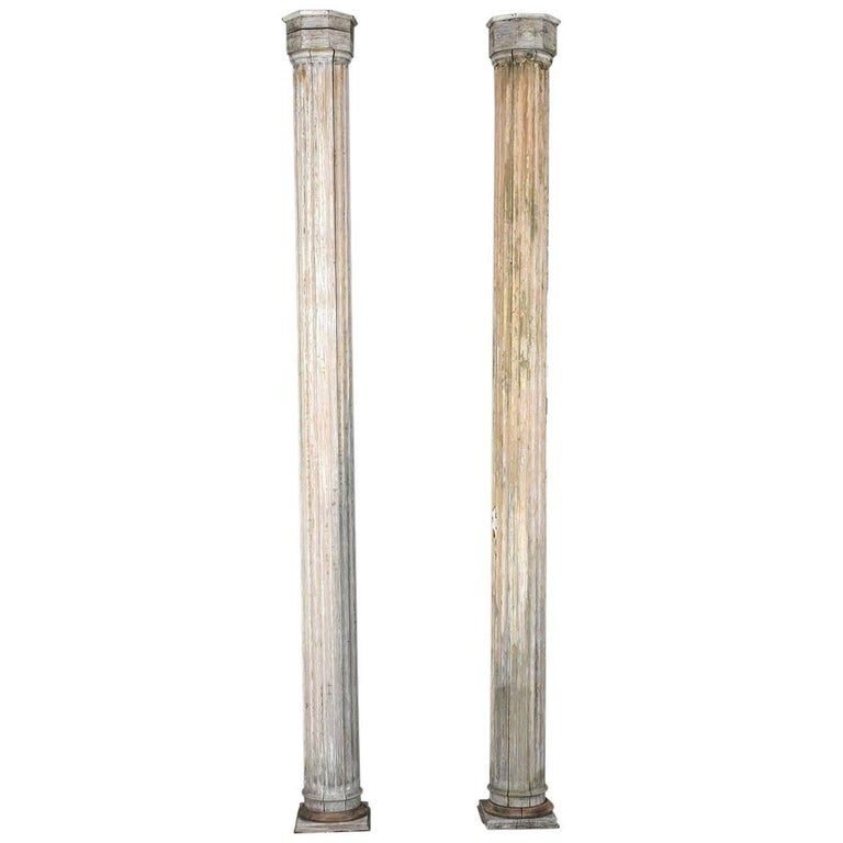 Pair of Antique Neoclassical-Style Columns