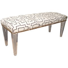 Contemporary Lucite Bench