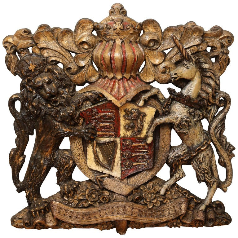 Large Vintage Coat of Arms
