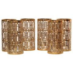 Set of Six Shoji Highball Glasses by Imperial Glass